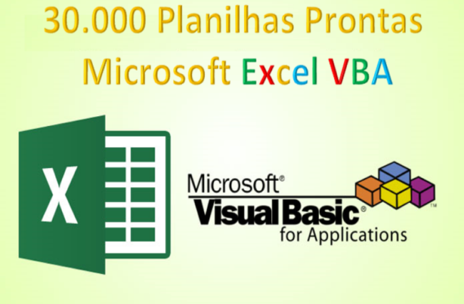 30.000 Planilhas Prontas com Excel VBA