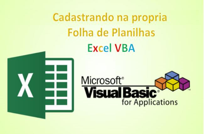 Excel VBA cadastrar Monitorias IRD Fixa