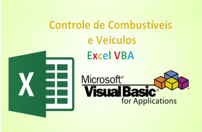 Combustível Controles e Veículos Planilha Excel VBA