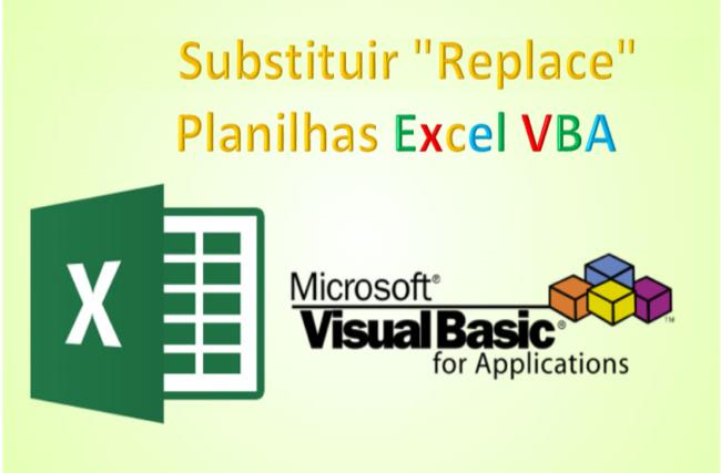 Substituir Excel VBA texto Função replace