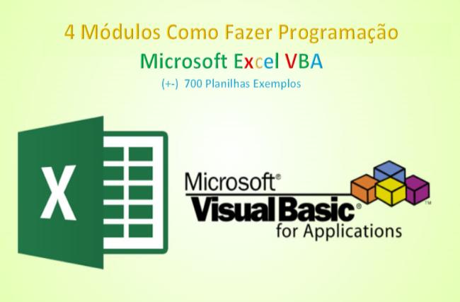 Como Fazer Programação Excel VBA – 4 Modulos