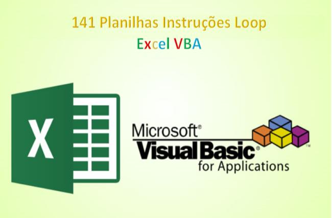 Excel VBA 141 Planilhas Instruções Loops