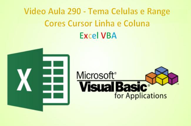 MD2_Licao_290 Células e Range cores cursor linha coluna