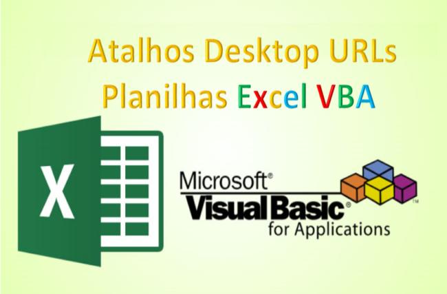 Atalhos criar um atalho desktop excel vba
