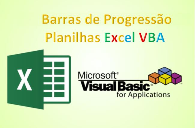 Barras de Progressão Excel VBA planilha